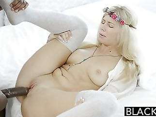 interracial blonde blowjob